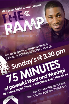 Mt. Vernon Baptist Church presents THE RAMP - An amazing new worship experience for today's YOUTH and YOUNG ADULTS - Sunday's at 3:30pm. Starting March 2, 2014.