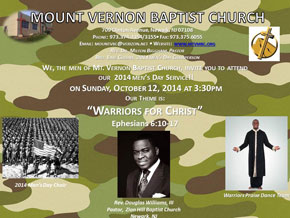 2014 Men's Day, Sunday, October 12th - 3:30pm