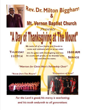 A Day of Thanksgiving at The Mount - Thursday, November 27th at 10:00am